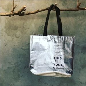 Lululemon This is Yoga Tote silver bag